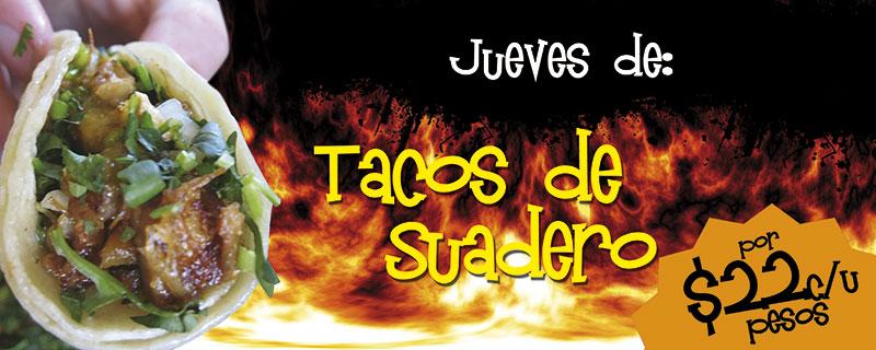 Jueves de Tacos de Suadero por solo $22 pesos cada uno