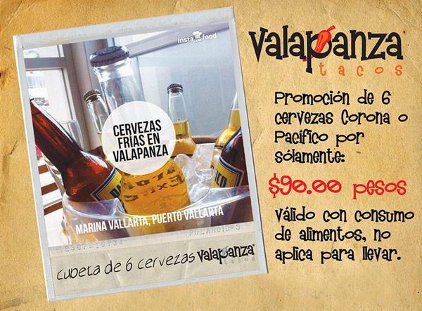 Promoción de 6 Cervezas Corona o Pacífico por solamente $90 pesos